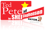 Vehicle and Refrigerator Magnets for President Candidates
